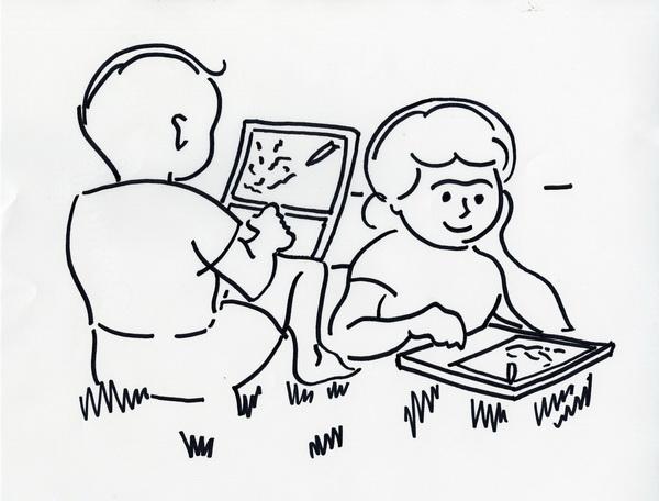 Boceto del Dynabook de Alan Kay. Fuente: Computer History Museum