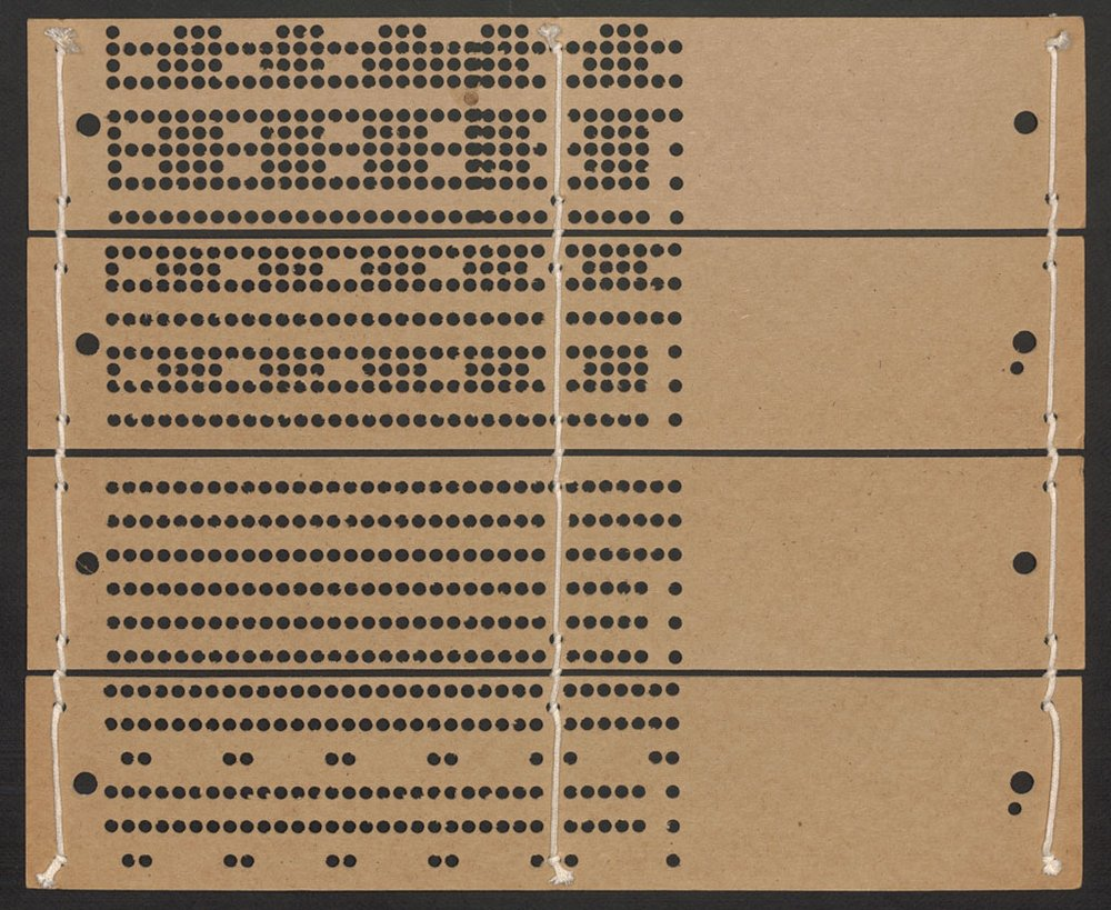 Tarjeta perforada de un telar de Jacquard | Por amor a la ciencia