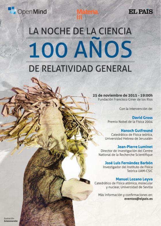 100 años de Relatividad, evento organizado por Materia en Madrid (25 de noviembre de 2015)